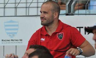 Frédéric Michalak dans les tribunes du stade de Colombes, le 25 août 2012.