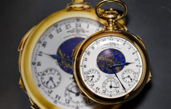 suisse une montre patek philippe vendue pour 21 3 millions de dollars. Black Bedroom Furniture Sets. Home Design Ideas