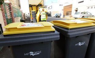 Les bacs jaunes réservés au tri sélectif ont été distribués en 2017 dans les logements de Rennes Métropole