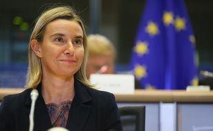 Federica Mogherini à Bruxelles le 6 octobre 2014.