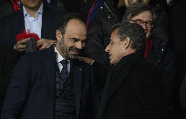 Nicolas Sarkozy en visite à Matignon pour déjeuner avec Edouard Philippe