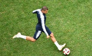 Kylian Mbappé avant France-Uruguay, le 6 juillet 2018.