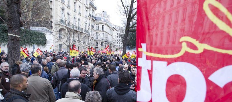 Manifestation de la CGT le 31 janvier 2013.