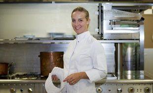 Amandine Chaignot, chef à l'hôtel Raphaël à Paris et jury de l'émission Master Chef, le 18 septembre 2013.