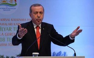 Le président turc Recep Tayyip Erdogan, le 29 avril 2015 à Ankara