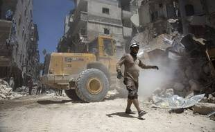 Des ruines en Irak après un bombardement de la coalition en 2015.