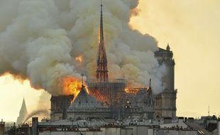 L'incendie de la cathédrale Notre-Dame de Paris.
