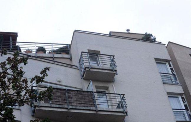 Photo prise le 16 juillet 2012 du balcon de Laszlo Csatary à Budapest, en Hongrie.