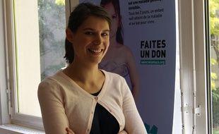 Anna Lavayssière, maman d'une enfant souffrant de la mucoviscidose, le 5 juin à Paris.