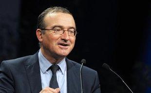 Le candidat à la présidence de l'UMP Hervé Mariton lors d'un meeting à Paris le 15 novembre 2014