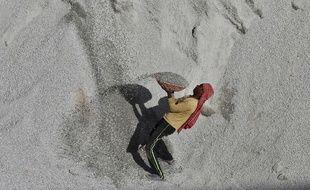 L'un des journalistes tués enquêtait sur le trafic du sable dans l'industrie du BTP, en Inde (illustration).