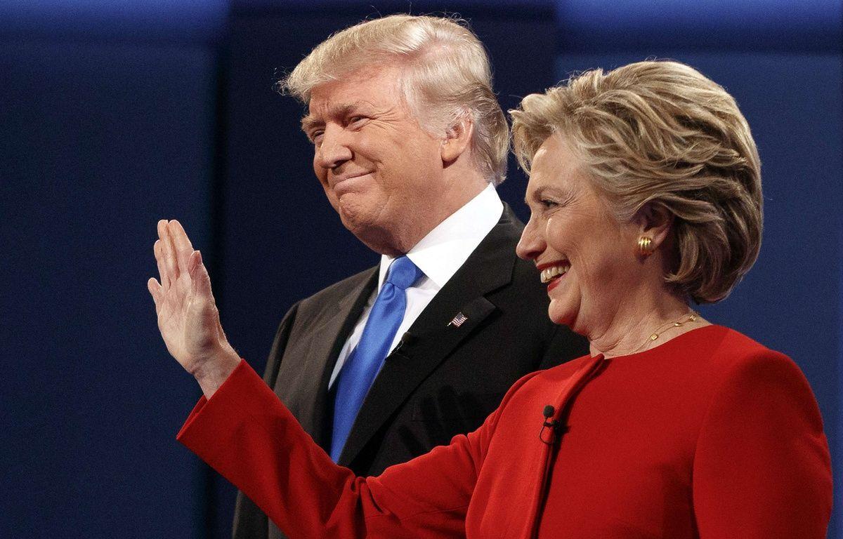 Hillary Clinton et Donald Trump lors du premier débat télévisé, le 26 septembre 2016. – E.VUCCI/AP/SIPA