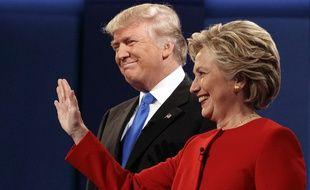 Hillary Clinton et Donald Trump lors du premier débat télévisé, le 26 septembre 2016.