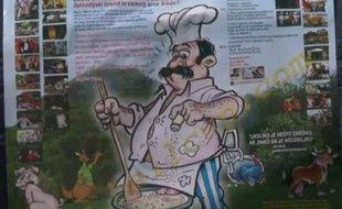 L'affiche du championnat du monde de cuisine de testicule s organisé chaque année à Lunjevica en Serbie.