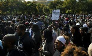 Manifestation de Noirs à Washington pour réclamer plus de justice, le 10 octobre 2015