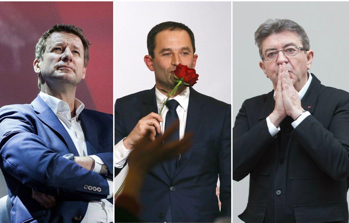 Jadot, Hamon, Mélenchon – Francois Mori/AP/SIPA Jean Michel Nossant/SIPA Tristan Reynaud/SIPA Tristan Reynaud/SIPA