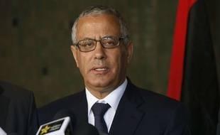 Le Premier ministre libyen Ali Zeidan lors d'une conférence de presse au Maroc le 8 octobre 2013.