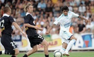 La recrue marseillaise Lucho Gonzalez en match amical face à Bordeaux, le 21 juillet 2009.