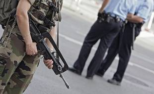 Policiers et militaires mobilisés dans le cadre du plan Vigipirate (Illustration).