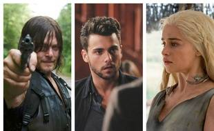 Images extraites de «The Walking Dead», «(How to Get Away With) Murder» et «Game of Thrones».