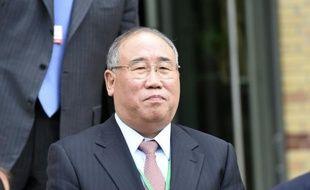 Le représentant de la Chine pour le changement climatique, Zhenhua Xie, le 21 juillet 2015 à Paris