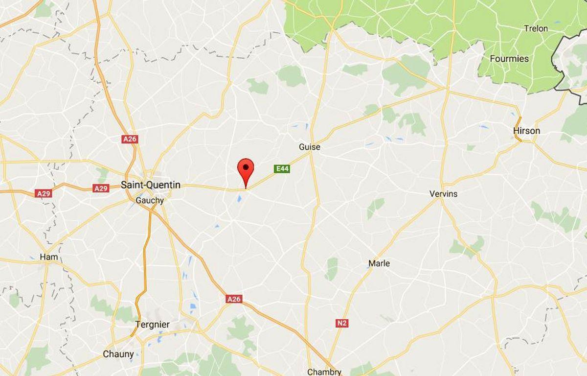 Le village d'Origny-Sainte-Benoîte, dans l'Aisne. – Google maps