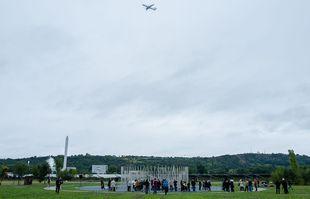Commémoration des 20 ans de la catastrophe d'AZF, le 21 septembre 2021, à Toulouse.