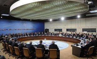 Les ministres des Affaires étrangères de l'Otan réunis à Bruxelles, le 1er avril 2014