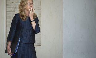 La ministre de la Justice, Nicole Belloubet, à la sortie du conseil des ministres du 3 juin 2020 (photo d'illustration)