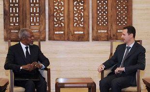 Kofi Annan et Bachar Al Assad, le 10 mars 2012
