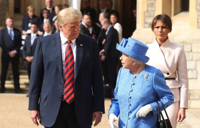 Fauteuil de Churchill et faute protocolaire avec la reine... Les faux pas de Donald Trump lors de sa visite en Angleterre