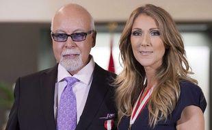 René Angelil et Céline Dion, le 26 juillet 2013.