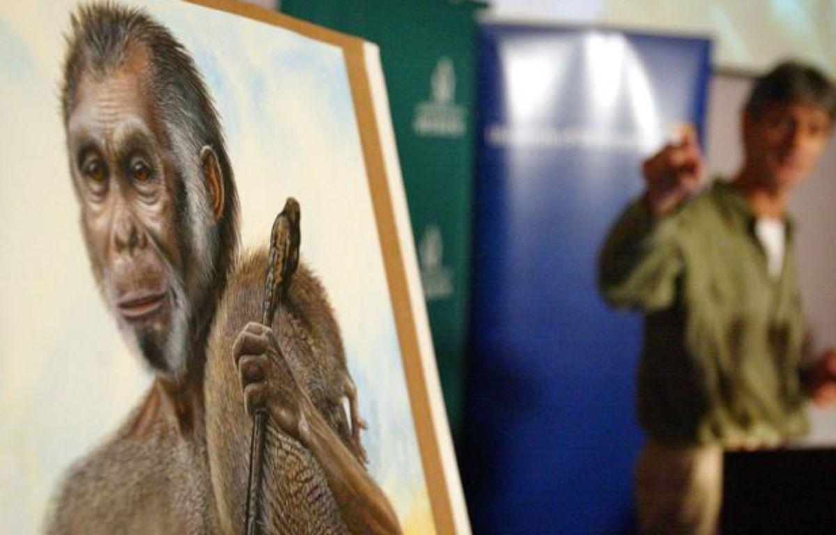 Reconstitution d'une femme des cavernes vivant il y a environ 18.000 ans. – ROB GRIFFITH/AP/SIPA