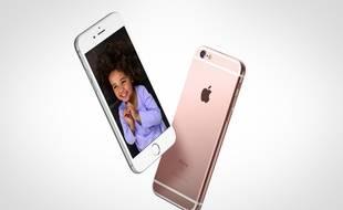 L'iPhone 6S d'Apple, commercialisé depuis le 25 septembre 2015.