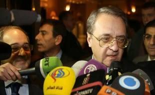 Le vice-ministre russe des Affaires étrangères, Mikhaïl Bogdanov, le 10 décembre 2014 à Damas