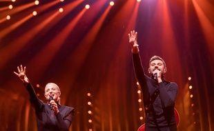 Le duo Madame Monsieur (Emilie Satt et Jean-Karl Lucas) ont défendu les chances tricolores à l'Eurovision 2018.