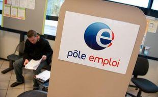 Un bureau de Pôle emploi à Bordeaux.