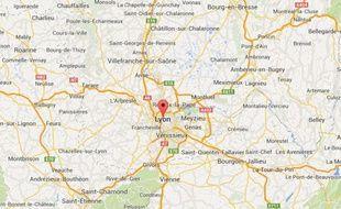 google map de Lyon