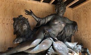Les allégories du Rhône et de la Saône, gigantesques sculptures, qui reposaient au pied de la statue équestre de la place Bellecour à Lyon, vont s'installer définitivement au musée des beaux-arts.