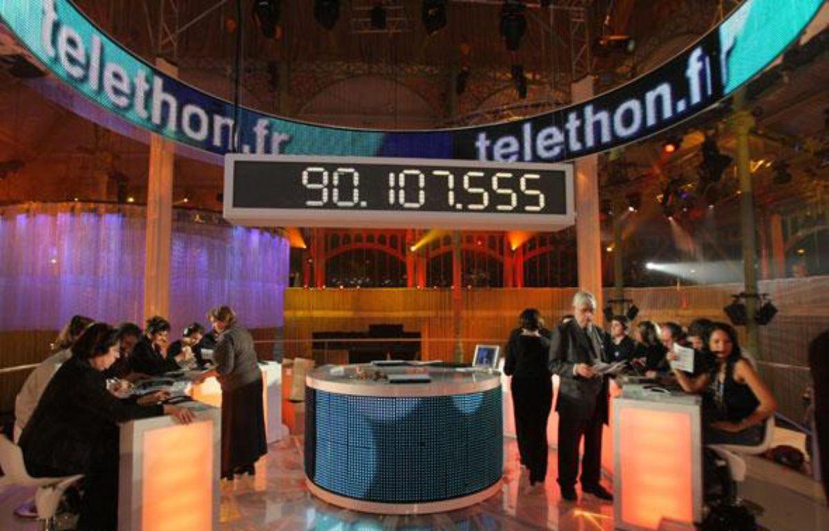 Le Téléthon 2009 a recueilli 90.107.555 euros de promesses de dons. – P. VERDY / AFP