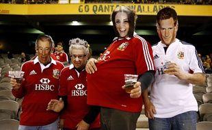Des supporters des British and Irish Lions.