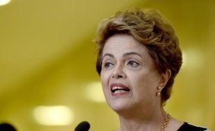 La présidente brésilienne Dilma Rousseff à Brasilia le 7 décembre 2015