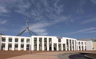 Le bâtiment du Parlement australien à Canberra.