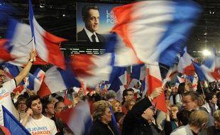 Meeting de Nicolas Sarkozy, pour la présidentielle, à Villepinte le 11 mars 2012.