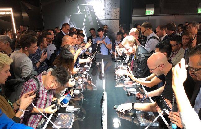 La présentation des Huawei Mate 10 et Mate 10 Pro le 16 octobre 2017.