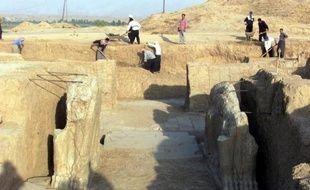 Le site archéologique de Nimroud, dans le nord de l'Irak, le 17 juillet 2001