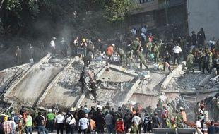 Le bilan provisoire du séisme au Mexique fait état de 224 morts, le 20 septembre 2017.