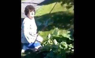 Une femme de l'Iowa vole de la rhuarbe à sa voisine.