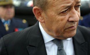 Le ministre français de la Défense Jean-Yves Le Drian le 11 septembre 2015 à Lannester