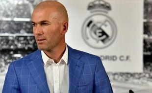 Zinedine Zidane le 4 janvier 2016 à Madrid après l'annonce de sa nomination d'entraîneur du Real Madrid